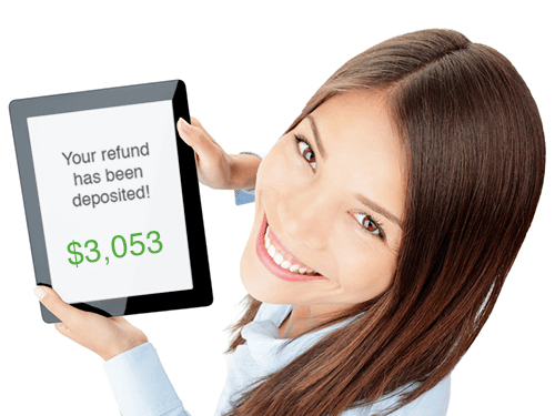 Tax refund result on mobile device